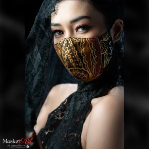 Masker Art  DAUN PRADA   II   Please chat WA for availability